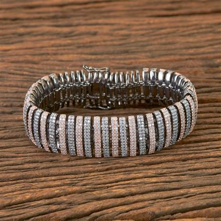 406723 Cz Classic Bracelet with Black Rose Plating
