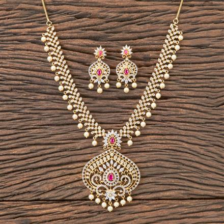 407131 Cz Classic Necklace With Gold Plating