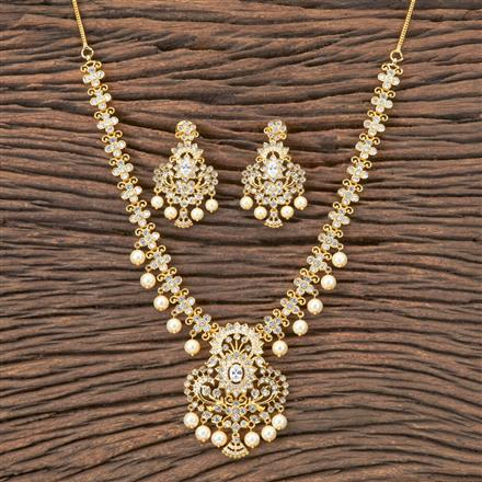 407133 Cz Classic Necklace With Gold Plating