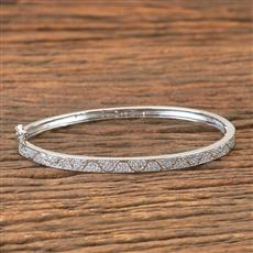 407298 Cz Delicate Kada With Rhodium Plating