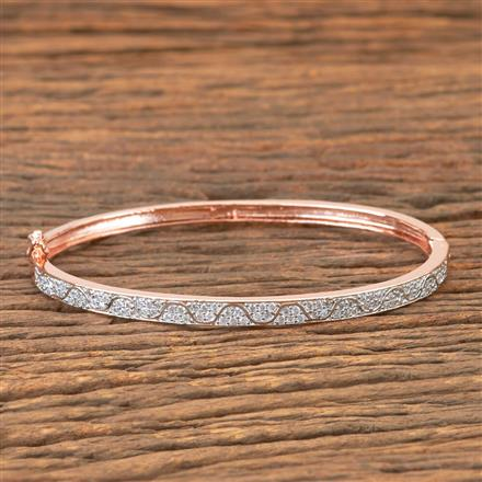 407299 Cz Delicate Kada With Rose Gold Plating