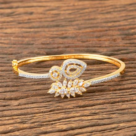 407384 Cz Delicate Kada With 2 Tone Plating