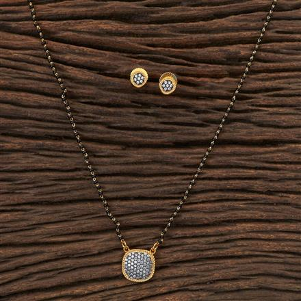 408194 Cz Delicate Mangalsutra With Gold Plating