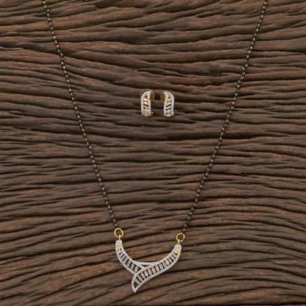 408800 Cz Classic Mangalsutra With 2 Tone Plating