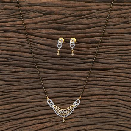 408813 Cz Classic Mangalsutra With 2 Tone Plating