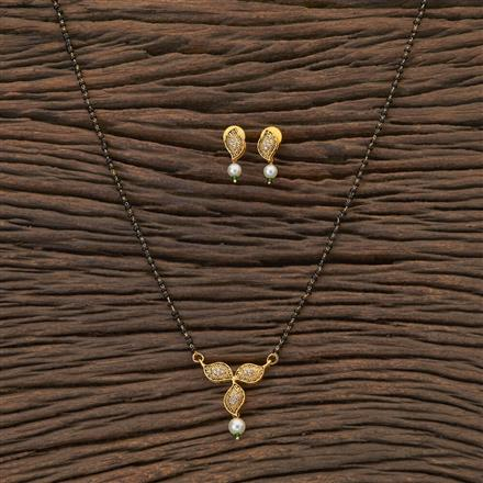 408886 Cz Classic Mangalsutra With Gold Plating