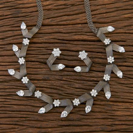 409325 Designer Trendy Necklace With Black Plating