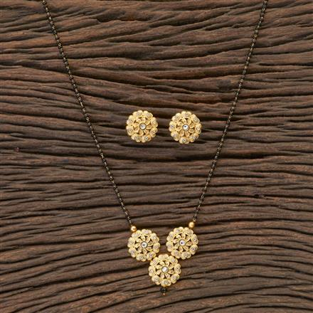 409413 Cz Classic Mangalsutra With Gold Plating