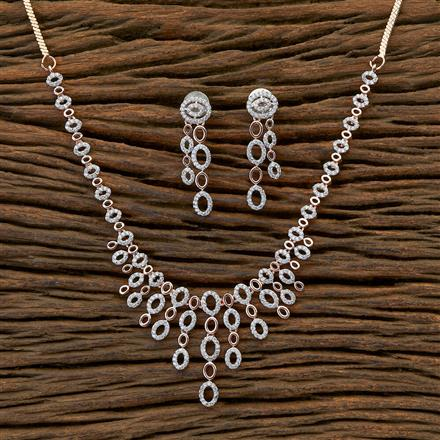 409434 CZ Classic Necklace with rose gold plating