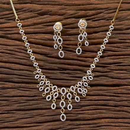 409435 CZ Classic Necklace with 2 tone plating