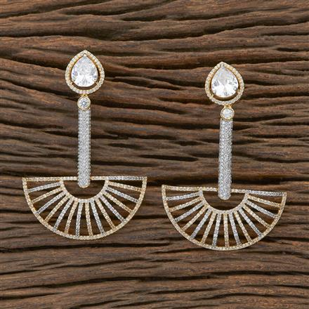 409497 CZ Classic Earring with 2 tone plating