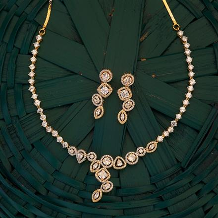 409502 CZ Classic Necklace with 2 tone plating