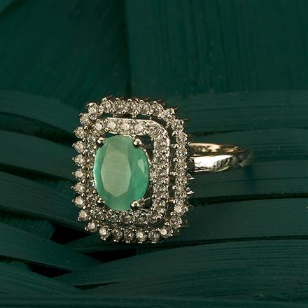 409846 Cz Classic Ring With Rhodium Plating