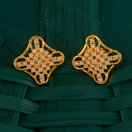 410002 Cz Tops With Gold Plating