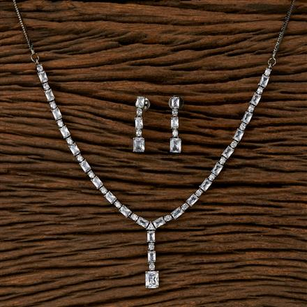 410160 Cz Classic Necklace With Black Plating