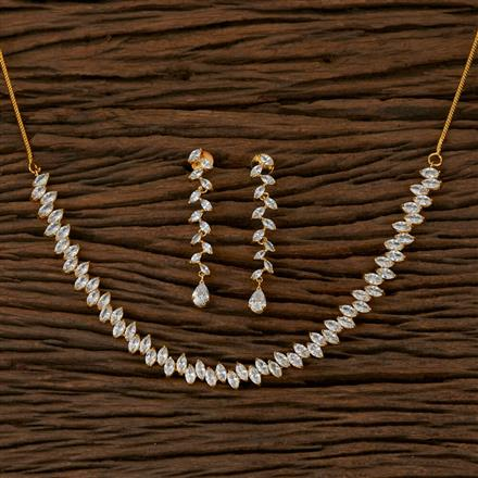 410246 Cz Classic Necklace with Gold Plating