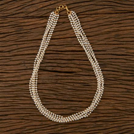 410248 Cz Classic Necklace with Gold Plating