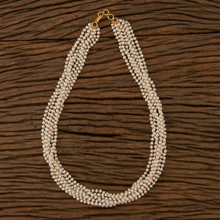 410249 Cz Mala Necklace with Gold Plating