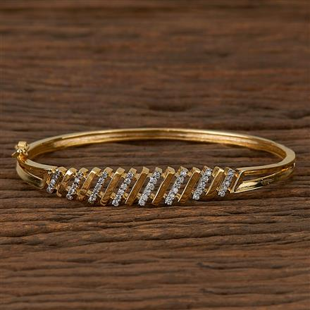 410396 Cz Delicate Kada With 2 Tone Plating