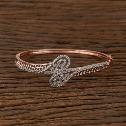 410400 Cz Classic Kada With Rose Gold Plating