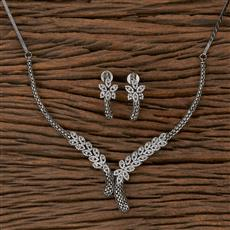 410441 Cz Classic Necklace With Black Plating