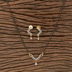 410485 Cz Classic Mangalsutra With 2 Tone Plating
