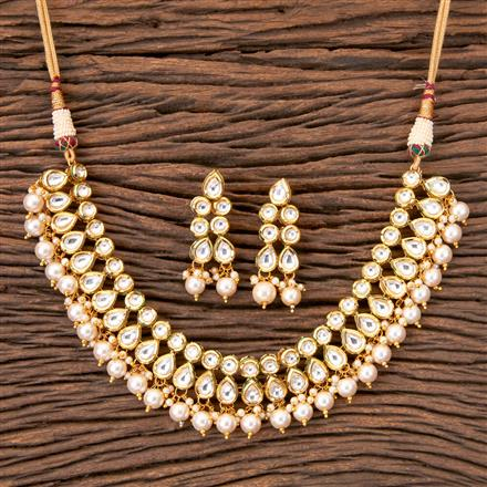 41070 Kundan Classic Necklace with Gold Plating