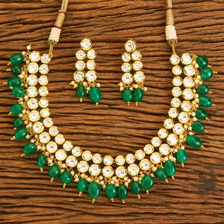41072 Kundan Classic Necklace with gold plating
