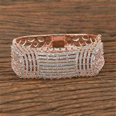 410818 Cz Classic Kada With Rose Gold Plating