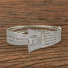 410923 Cz Classic Kada With Rhodium Plating