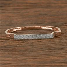 411005 Cz Delicate Kada With Rose Gold Plating