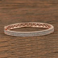 411008 Cz Delicate Kada With Rose Gold Plating