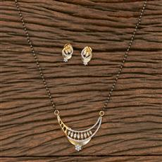 411074 Cz Classic Mangalsutra With 2 Tone Plating