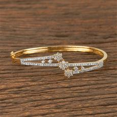 411085 Cz Classic Kada With 2 Tone Plating