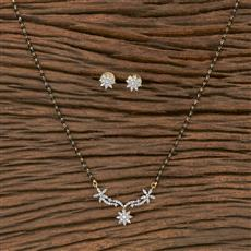 411186 Cz Classic Mangalsutra With 2 Tone Plating