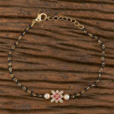 411188 Cz Delicate Bracelet With Gold Plating