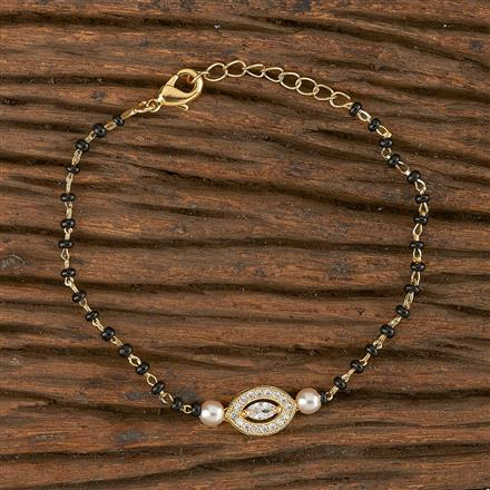 411190 Cz Delicate Bracelet With Gold Plating