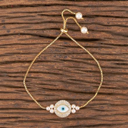 411252 Cz Adjustable Bracelet With Gold Plating
