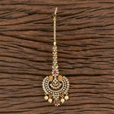 411279 Cz Chand Tikka With Gold Plating