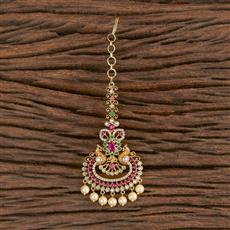 411280 Cz Chand Tikka With Gold Plating
