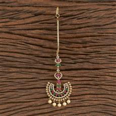 411281 Cz Chand Tikka With Gold Plating