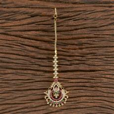 411286 Cz Chand Tikka With Gold Plating