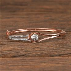 411458 Cz Delicate Kada With Rose Gold Plating