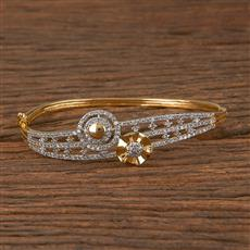 411459 Cz Delicate Kada With 2 Tone Plating