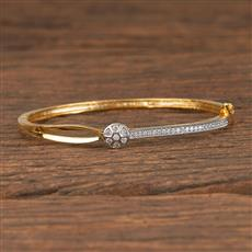 411474 Cz Delicate Kada With 2 Tone Plating