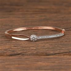 411475 Cz Delicate Kada With Rose Gold Plating