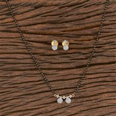 411477 Cz Delicate Mangalsutra With 2 Tone Plating