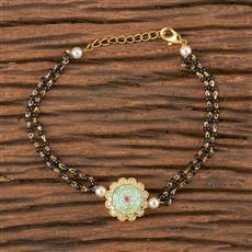 411481 Cz Delicate Bracelet With Gold Plating