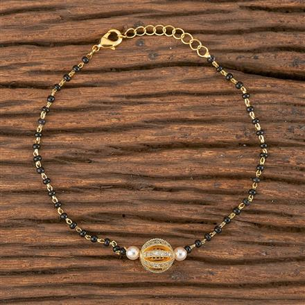 411482 Cz Delicate Bracelet With Gold Plating