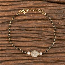 411484 Cz Delicate Bracelet With Gold Plating